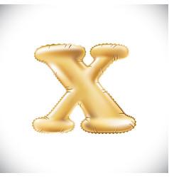 metallic gold x balloons golden letter new year vector image vector image
