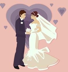 Wedding in a flat style vector image vector image