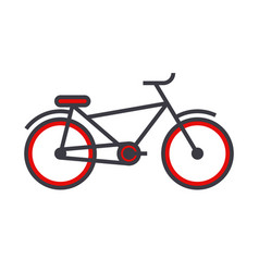bicycle flat line concept vector image