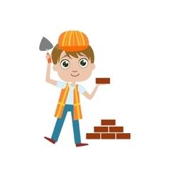 Boy Future Construction Worker vector image vector image