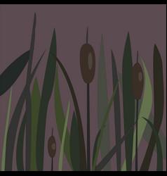 bush of swamp reed on a lake vector image