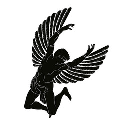icarus with the wings vector image