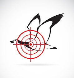 image of a wild duck target vector image vector image
