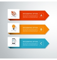 Modern minimal arrow elements for infographics vector image