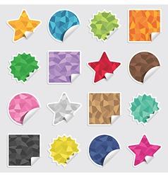 polygon stickers vector image