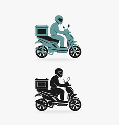 scooter delivery symbol vector image vector image