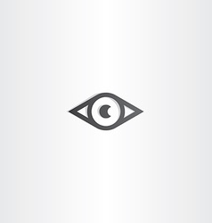 black eye design icon vector image vector image