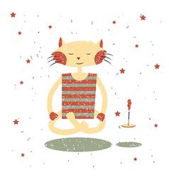 Children print Funny cat Yogi vector image vector image