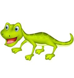 cute lizard cartoon vector image