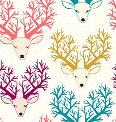 Cute seamless pattern with deers vector image vector image