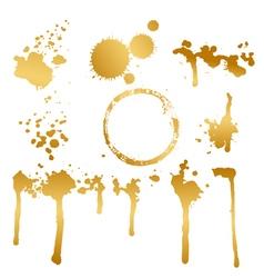 golden blots vector image