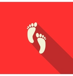 Baby legs icon flat style vector image