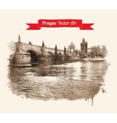 Charles bridge vector image