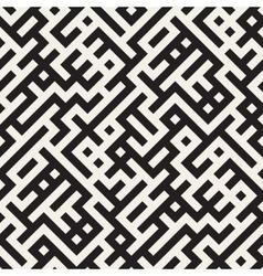 Seamless black and white irregular maze vector
