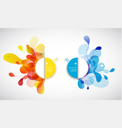 set of abstract colored flower background with vector image