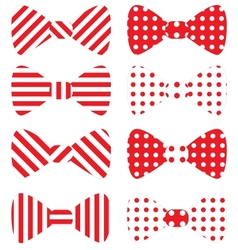 Set of red bow ties vector image vector image