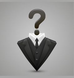 triangle jacket question vector image vector image