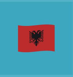 Albania flag icon in flat design vector