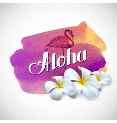 Aloha label with exotic vector
