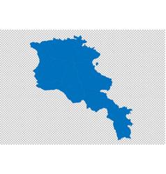 Armenia map - high detailed blue map vector