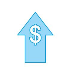 arrow up with money symbol vector image