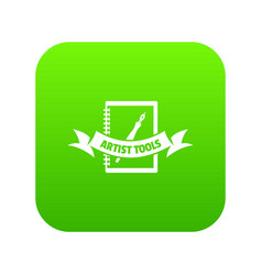 artwork icon green vector image