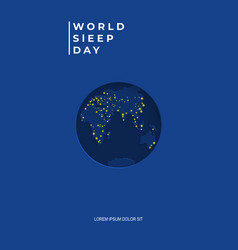 background for world sleep day vector image