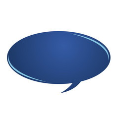 blue speech bubble logo design template vector image