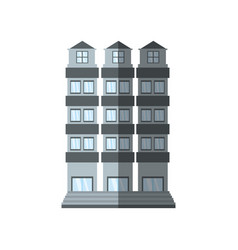 building apartment family shadow vector image