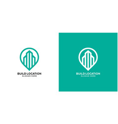 building location logo template design vector image