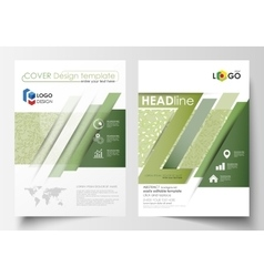 Business templates brochure flyer annual report vector