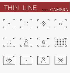 camera viewfinders set vector image vector image