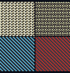 carbon fiber kevlar and decorative vector image