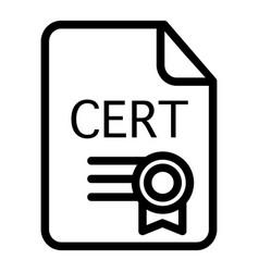 Certificate line icon award vector