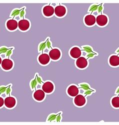 Cherries background vector