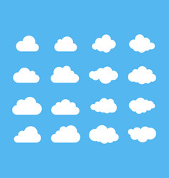 clouds silhouettes set of clouds shapes vector image