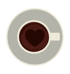 coffee cup topview icon vector image