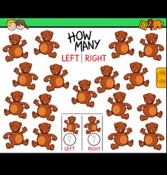 Counting left and right picture of bear vector