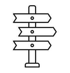 Direction tower icon outline style vector