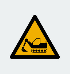 dozer excavator symbol sign vector image