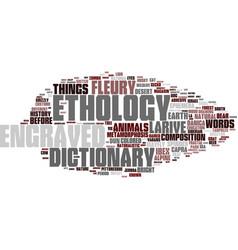 Ethology word cloud concept vector