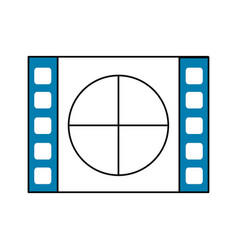 film countdown to projection of movie vector image