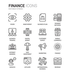 finance vector image