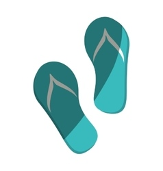 flip flops isolated icon vector image