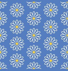 Floral seamless pattern with flat line icons of vector