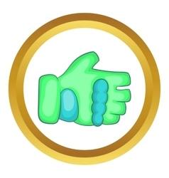 Green paintball glove icon vector