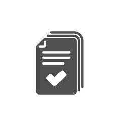 Handout icon documents example sign vector