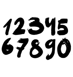 Handpainted ink with numbers vector