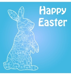 Happy Easter blue vector