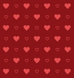 hearts background style vector image